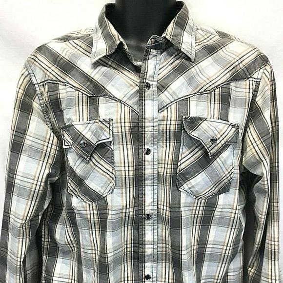 BKE Buckle Other - BKE Buckle Men's Pearl Snap Slim Fit Plaid Shirt